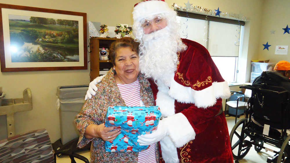 Immanuel Pathways Omaha received gifts from Santa during Christmas