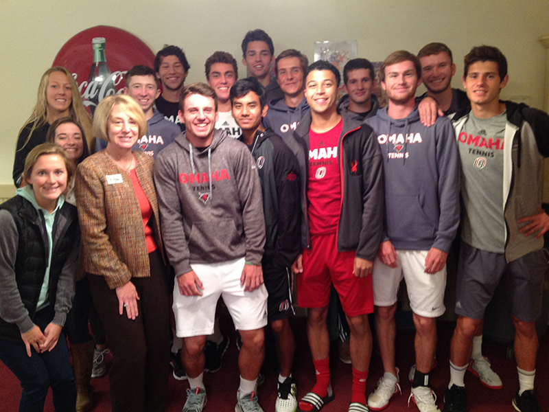 Image for UNO Men's Tennis Team Stops By The Arboretum
