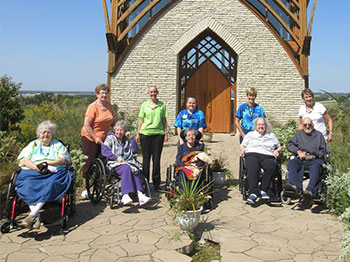 Image for Fontenelle Visits Holy Family Shrine