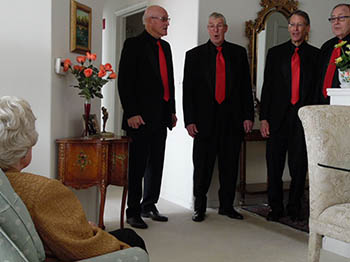 Image for The Singing Valentine Quartet visited The Landing