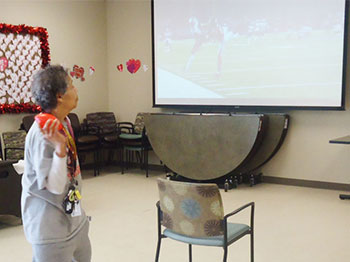 Immanuel Pathways Omaha participated in a super bowl party
