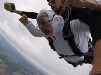 Image for Trinity Courtyard Resident Goes Skydiving!
